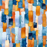 Seamless Pattern of Watercolor Lines - 227087002