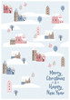 Christmas and Happy New Year seamless illustration whit winter landscape. - 227093417