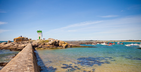 Paysage de Bretagne - Phare sur la côte bretonne