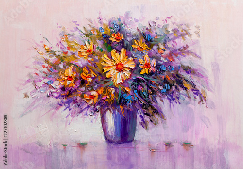 oil-painting-daisy-flowers