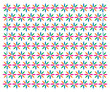 floral pattern, star pattern colored vector - 227128425