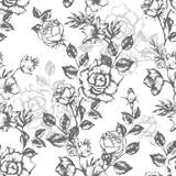Vintage flowers roses. Seamless pattern. Vector Illustration for phone case, fabrics, textiles, interior design, cover, paper, gift packaging.