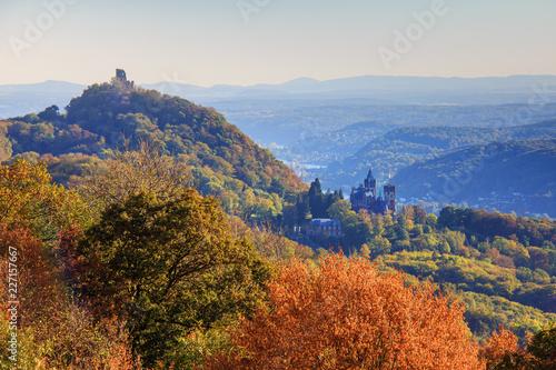 Leinwandbild Motiv Der Drachenfels im Siebengebirge, Deutschland