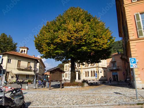 central square of a small Italian mountain village