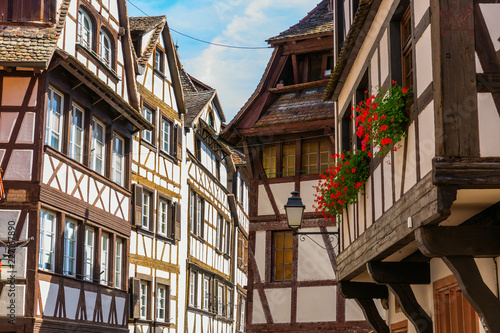 alley in the district La Petite France in Strasbourg, France - 227167890