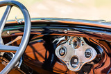 dashboard of a historical car - 227168680