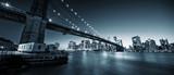 brooklyn bridge with manhattan at night - 227169890