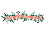 beautiful rose decoration icon