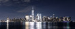 cityscape of modern city new york at nigth
