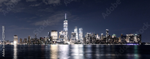 cityscape of modern city new york at nigth - 227194891