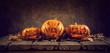 halloween background with jack  pumpkins