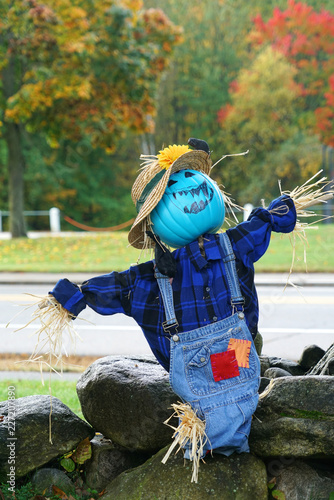 Home Made Scarecrow Outdoor As Decoration For Halloween Buy Photos