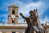 Campidoglio palace rome on sunny day