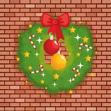 christmas garland decorative icon