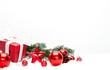 Red christmas holidays decoration on a white background - 227221650
