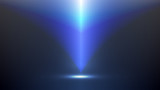 Abstract blue light and shade creative technology background. Vector illustration. - 227254825