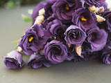 Purple roses. Rose bouquet. Vintage flower arrangement.