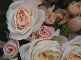Pink roses. Rose bouquet. Vintage flower arrangement.