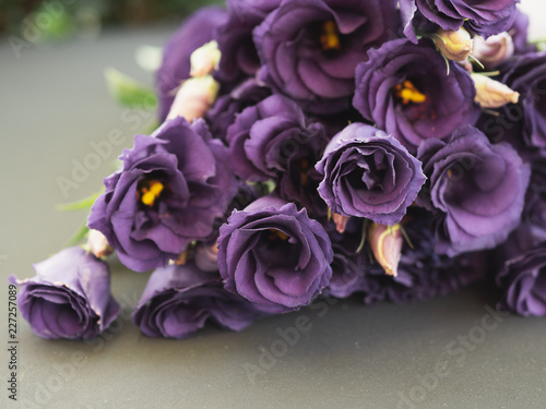 Foto Murales Purple roses. Rose bouquet. Vintage flower arrangement.
