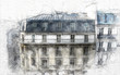Paris architecture sketch