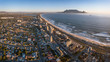Cape Town Table Mountain Aerial View from Blouberg Beach - 227287420
