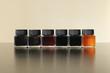 Composizione di contenitori di pittura acquarellata, colori brillanti per dipingere - 227291663