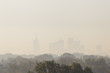 Warsaw, the capital of Poland covered in smog and fog - 227294824