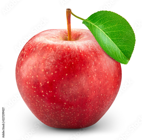 Red apple isolated on white - 227299427