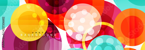 Abstract colorful geometric composition - multicolored circle background © antishock