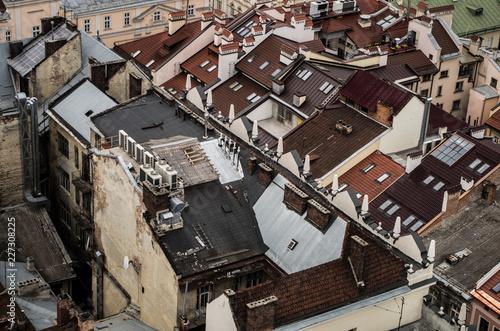 Fridge magnet Lviv From Above