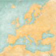 Leinwanddruck Bild - Map of Europe - Jan Mayen