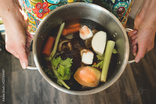 Bone Broth Preparation - 227314487