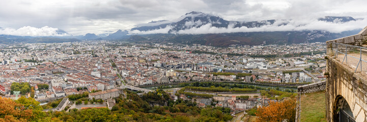 view of Grenoble since the Bastille © philippe paternolli