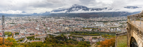 Foto Murales view of Grenoble since the Bastille