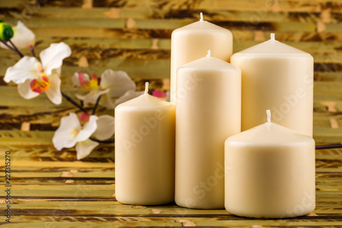 Foto Murales white candles
