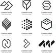 vector black icons set