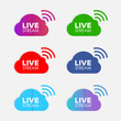 live icon vector. social media communication realtimes concept.