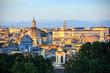 Rome sous la lumière du coucheur du soleil