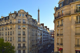 Paris cityscape with Eiffel Tower.