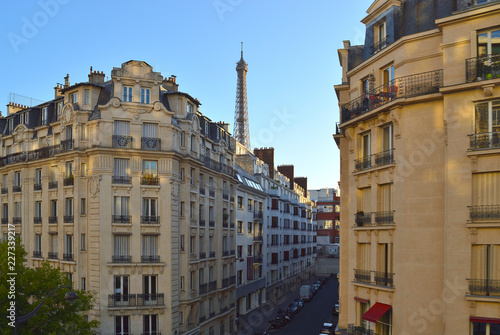 Paris cityscape with Eiffel Tower. - 227339217