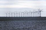 offshore wind farm in the Baltic Sea, concept for environmental protection and renewable energy, copy space - 227341613
