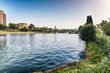 Quadro Scenic view over the lake of EUR in Rome, Italy
