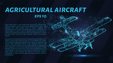 Agricultural aircraft of particles