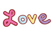 Love fonts drawing - 227354679