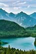 Leinwanddruck Bild - Alpensee Lake in Alps
