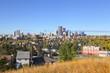 CALGARY, ALBERTA, CANADA - September 29 , 2017 - View of the Calgary, Alberta skyline from Edowrthy Park