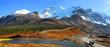 Scenic landscape in Jasper national park near Icefields park way