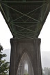 St Johns Bridge at Cathedral Park In Portland, Oregon