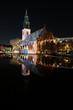 Berlin at night  - Illuminated landmark , St. Mary`s Church / Marienkirche