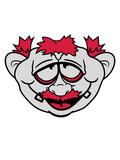 gesicht lustig opa papa rote haare hässlich glücklich comic cartoon design kopf clipart - 227383086